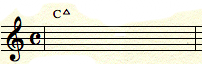 C Major chord with staff