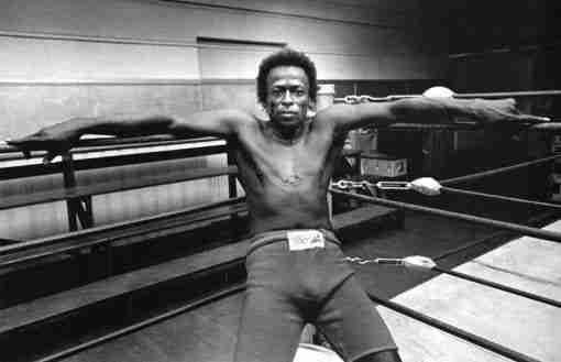 Miles Davis Jazz Trumpeter Boxing