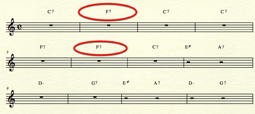 Inactive Blues Chords