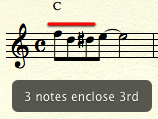 3 notes enclose