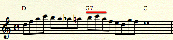 Dexter line - get to a chord tone